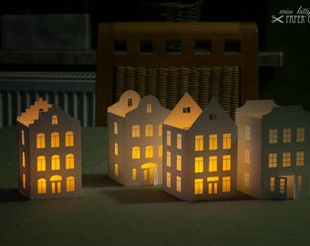 Handicraft set »Tea light lanterns 'City of Lights 2'«