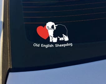 Old English Sheepdog Vinyl Decal