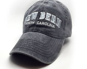 New Bern Embroidered Hat, Grey