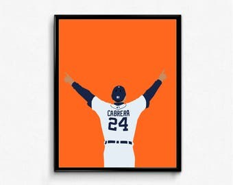 Miguel Cabrera Sports Poster - Miggy, Tigers, Triple Crown, Baseball Poster