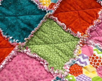 "Cover ""rag quilt"" crib size"