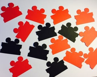 25 Disney Tags Paper Die Cuts  (These can come in all different colors)