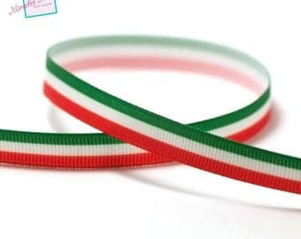 "3 m through big 10 mm ""flags"" Italian grain, red white green"