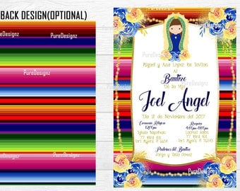Mi Bautizo Invitations, Bautizo invitations, Baptism Invitation,Virgen invitation, Virgencita Invitation, Mexican Bautizo Invitation