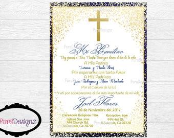 Mi Bautizo Invitations, Bautizo Invitations, Invitaciones Bautizo, BOY Baptism Invitations, Spanish, Invitaciones Religiosas