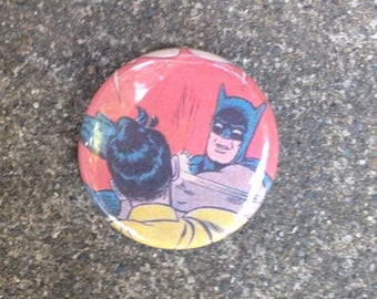 Batman Slaps Robin Button