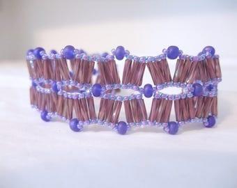 Wavy Twisted Purple Monochromatic Bracelet Casual Fashion Gift