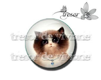 PA453 glasses, Retro, Cat, kitten, cat manual cabochons