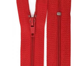 Red nylon closure size 10 cm