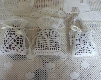 hand crocheted organic Lavender sachets
