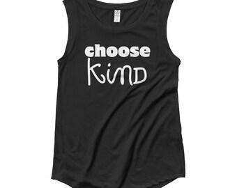 Choose Kind Wonder RJ Palacio anti bullying kindness positive message, acceptance, perserverance, Ladies' Cap Sleeve T-Shirt