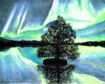 Lake Aurora - Original Artwork - Print