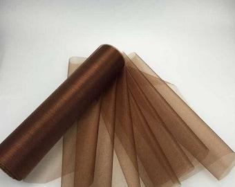 Fabric 1 meter chocolate Organza / 28 cm