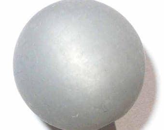 Grey polaris bead 5 black diamond 12mm 5 beads