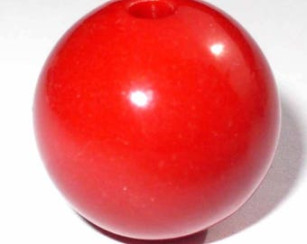 1 red 14mm round Pearl AR241Rg
