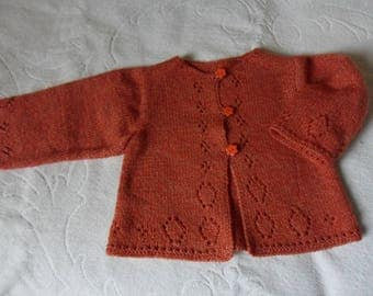 coat, vest, bolero pink girl Orange 12 months