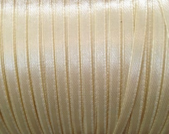 1 meter Ribbon 4 mm beige satin ❤ ❤