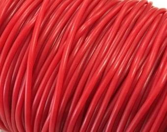 ❤ X 2 feet cord hollow rubber cord red 2 mm ❤