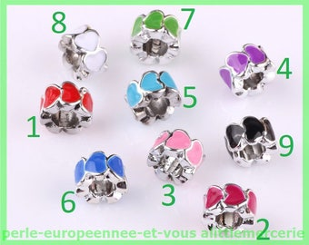 European bracelet charms N571 N4 heart bead