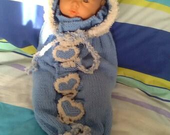 Baby blanket - swaddling sock - beguin