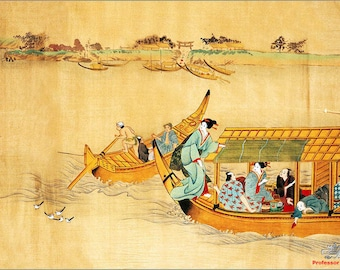 STRONG classic & WASHABLE semi-rigid ORIGINAL AESTHETIC laminated PLACEMAT - Painting - Art Chinese 13 CA.