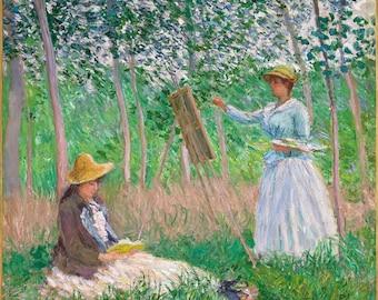 ORIGINAL SEMI rigid AESTHETIC WASHABLE and durable PLACEMAT - Claude Monet - Blanche Monet painting.