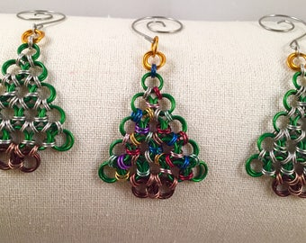 Chainmail Christmas Tree Ornaments