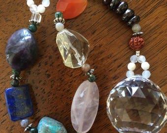 Chakra Crystal Sun Catcher ~ Genuine Crystals ~ Swarovski Prism ~ Reiki-infused Energy ~~~ free shipping :)