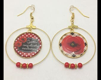 """Nice poppies ladies"" earrings"