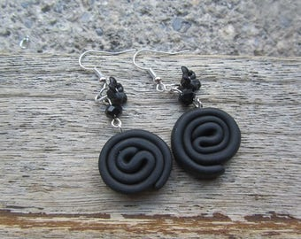 """Earrings """"my chic licorice!"""" in fimo"""