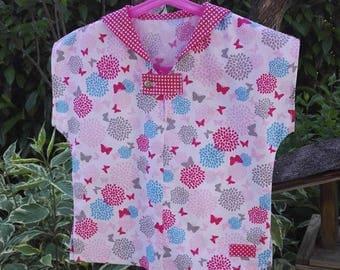 Top cotton Butterfly girl sailor collar.