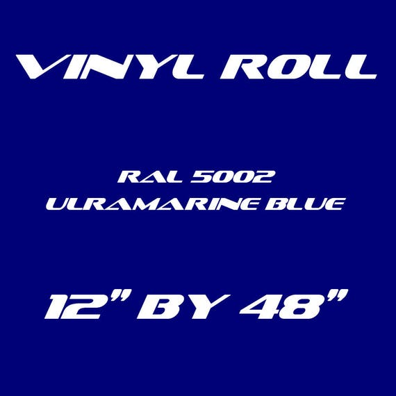 UltraMarine Blue - RAL 5002 - Gloss Vinyl Roll - 5 Year Durability Indoors or Outdoors - 75 Microns