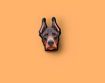 Doberman Pinscher pin | Pet dog brooch | Dog Lover Gift | Pet Loss Gift |