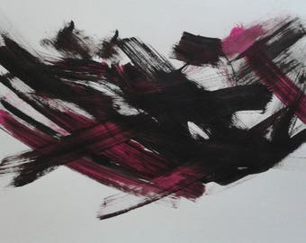 Acrylic abstract on thick white paper