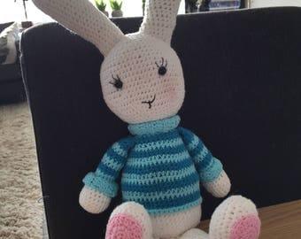 Crochet rabbit hug