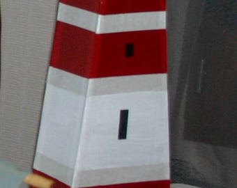 "Fantasy themed ""sea"" urn: illuminated lighthouse"