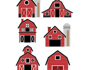 Farm Barn House Cuttable Design SVG PNG DXF & eps Designs Cameo File Silhouette