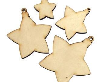 Wooden Christmas Star Plywood Scrapbooking Embellishment Wedding Decor Gift