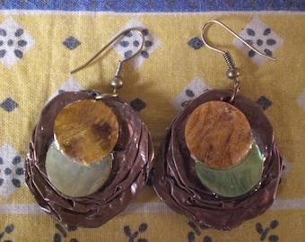"""""""Pearl"""" earrings - 3"""