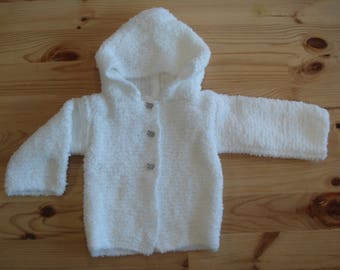 Sage baby hooded coat