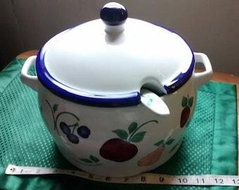 Princess House Orchard Medley Soup Tureen w/ Ladle