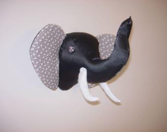 Trophy elephant-headed gray tone