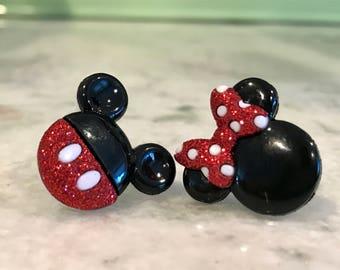 Disney Earrings, Mickey Mouse Earrings, Minnie Mouse Earrings, Disney Jewelry, Disney Vacation Earrings, Mouse Ears