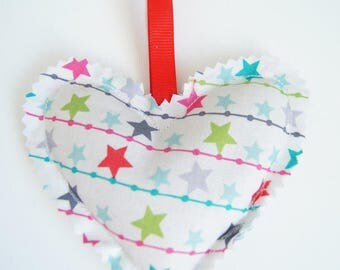 Small heating pad heart Christmas ornament - star