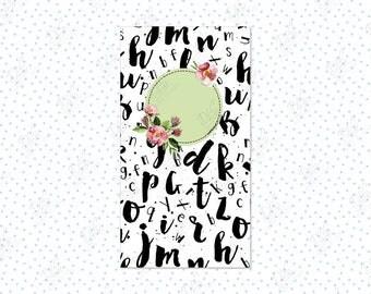 Traveler's Notebook insert: Alphabet