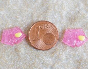 Pink mini shorts