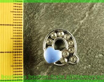 Pearl Heart N4 q bandwidth rhinestone alphabet for bracelet