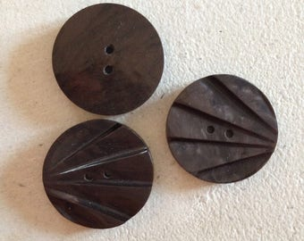 Set of vintage Brown buttons