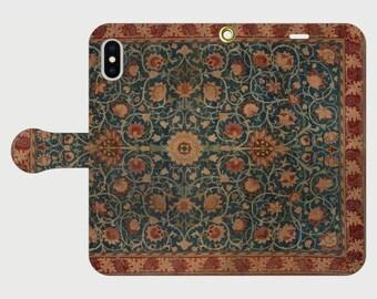 "Wallet phone case ""William Morris Holland Park carpet"""