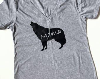 Mama Wolf Matching Family T-Shirts